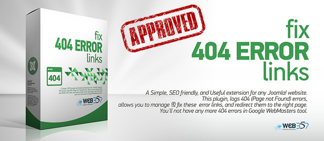 'Fix 404 Error Links' extension has been approved by the JED, the Joomla! Extensions Directory