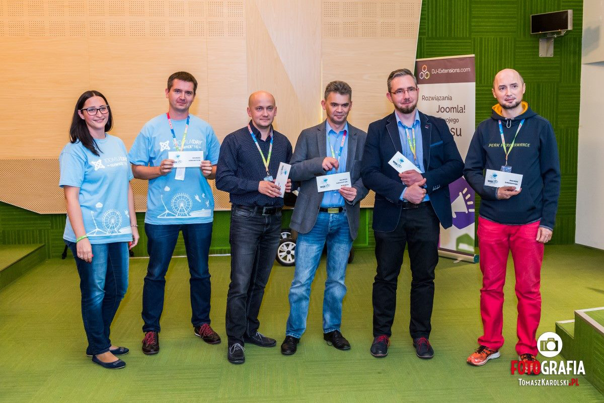Joomla day in Poland 2016 - Web357 gift winners