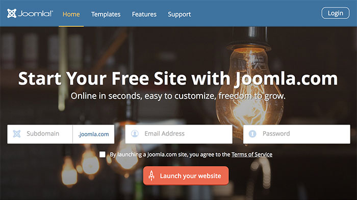 Free hosted website solution from Joomla.com