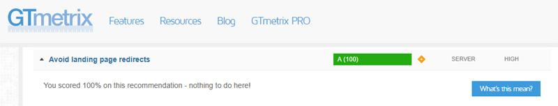 Get a little better score in GTMetrix with the wwwRedirect