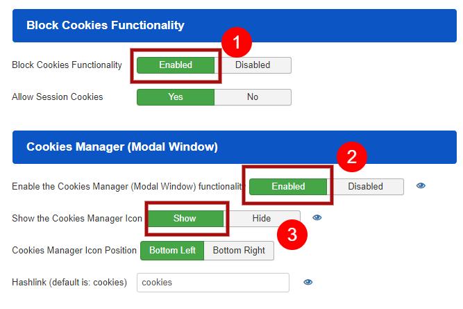 How to Block Cookies in Joomla! - Step 2