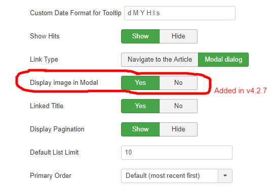 Image in modal's dialog for Monthly Archive Joomla! Component
