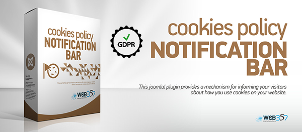 New Features and Many Improvements in version 3.3.8 of the Web357 Cookies Policy GDPR Ready Joomla! plugin