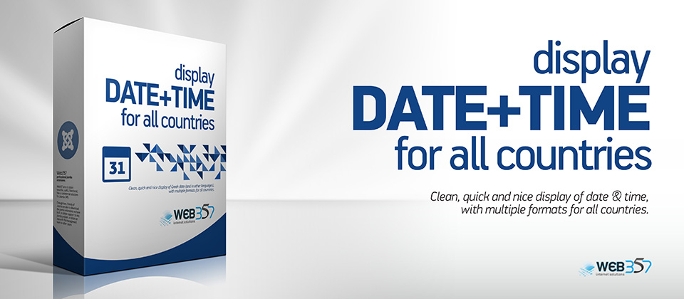 Create a custom date format for the DateTime Joomla! Module
