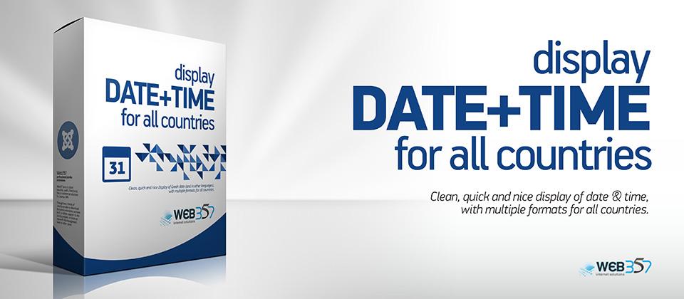 Create a custom date format for the DateTime Joomla! Module