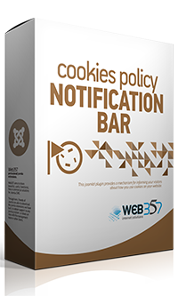 Cookies Policy Notification Bar extension for Joomla!