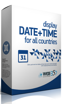 Display Date and Time extension for Joomla!