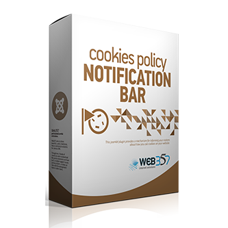 Cookies Policy Notification Bar Joomla! plugin by Web357