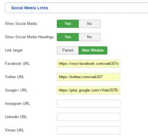 05 Social Media Links (Parameters)