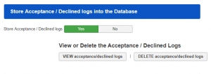 12 Store Acceptance Declined logs into the Database