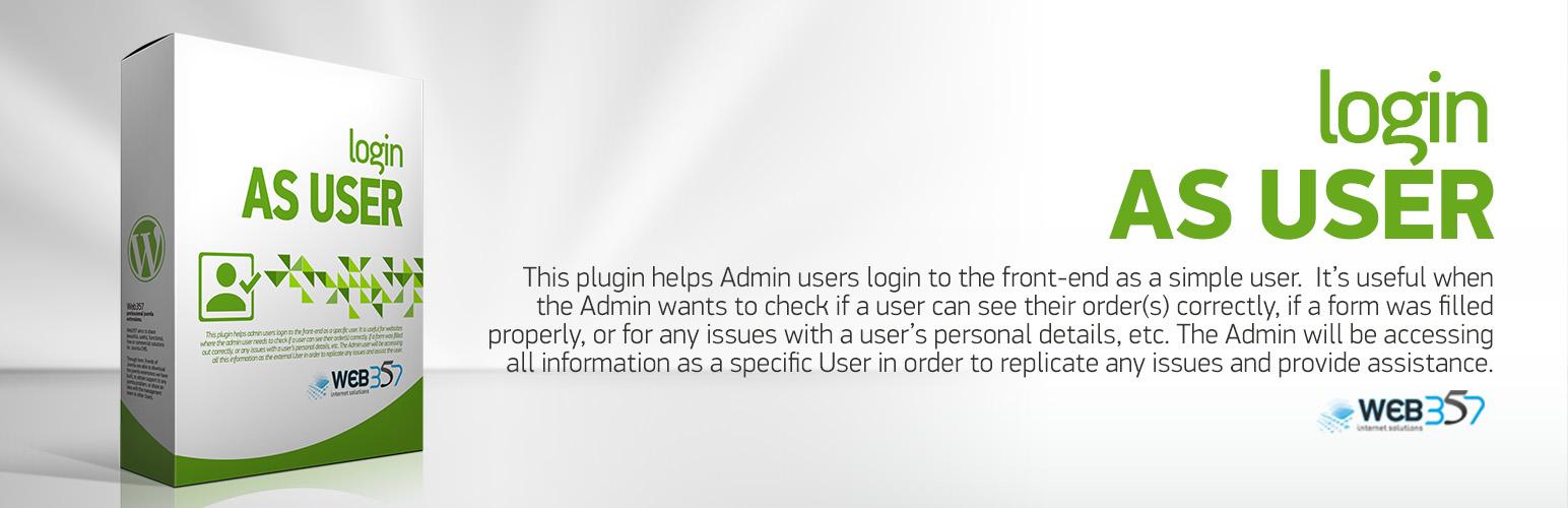 Login as a User – WordPress plugin - Cover