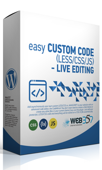 Easy Custom Code (LESS/CSS/JS) - Live editing - WordPress plugin