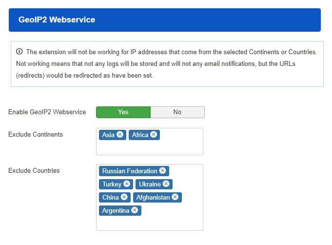 GeoIP2 Webservice