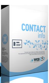 Contact Info - Joomla! module