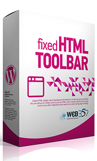 Fixed HTML Toolbar WordPress plugin