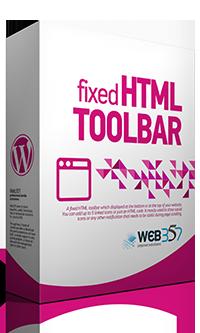 Fixed HTML Toolbar WordPress plugin